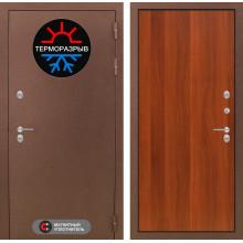 Уличная входная дверь с терморазрывом Лабиринт Термо Магнит 5 Итальянский орех