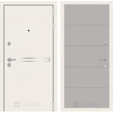 Входная Металлическая дверь Лабиринт Лайн WHITE 13 Грей софт