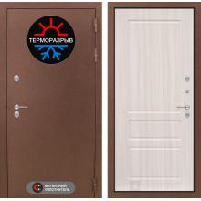 Входная уличная дверь с терморазрывом Лабиринт Термо Магнит 3 Сандал белый