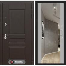 Входная металлическая дверь Лабиринт Мегаполис с зеркалом Максимум Софт Грей