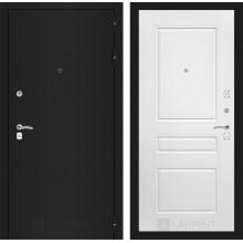 Входная металлическая дверь Лабиринт CLASSIC шагрень черная 3 Белый софт