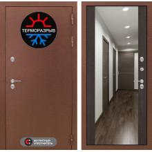 Входная металлическая дверь с терморазрывом Лабиринт Термо Магнит с Зеркалом Максимум Венге