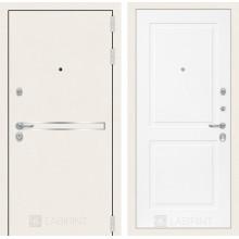 Входная металлическая дверь Лабиринт Лайн WHITE 11 Белый софт