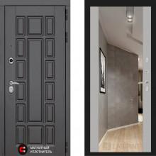 Металлическая дверь Лабиринт Нью Йорк Софт Грей с зеркалом Макси