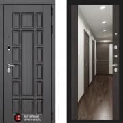 Металлическая дверь Лабиринт Нью Йорк венге с зеркалом Макси
