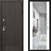 Металлическая дверь Лабиринт Урбан белый софт с зеркалом Макси