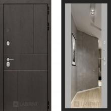 Металлическая дверь Лабиринт Урбан серый софт с зеркалом Макси