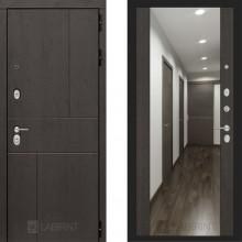 Металлическая дверь Лабиринт Урбан венге с зеркалом Макси