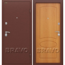 Металлическая дверь Bravo Оптим Нео Миланский орех