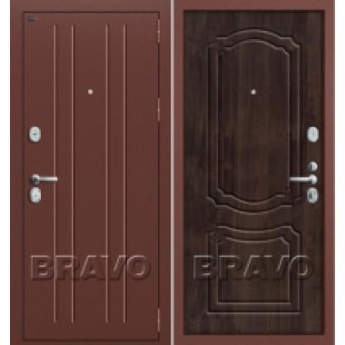 Металлическая дверь GROFF P2-201 П-28 Темная Вишня
