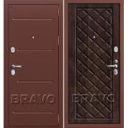 Металлическая дверь GROFF P2-204 П-28 Темная Вишня