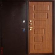 Металлическая дверь Юг-2 Тёмный Орех