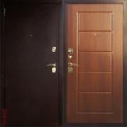 Металлическая дверь Юг-3 Итальянский Орех Квадрат