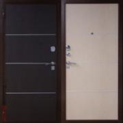 Металлическая дверь Юг-4 Венге\Белёный Дуб