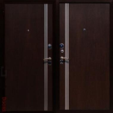 Металлическая дверь Юг-4 Венге\Венге