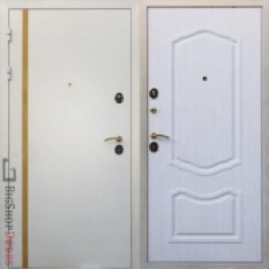 Металлическая дверь Юг Белая Кассандра