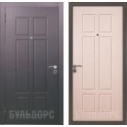 Металлическая дверь БУЛЬДОРС-15 Белый дуб