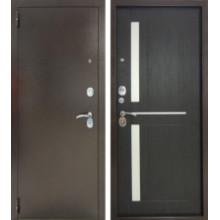 Металлическая дверь Тандем Соренто Венге Кантри
