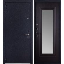 Металлическая входная дверь с зеркалом Триумф Крокодил Венге