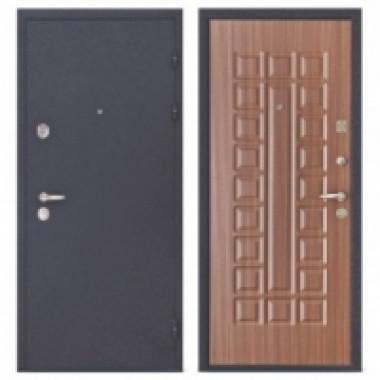 Металлическая дверь Колизей Махагон коричневый