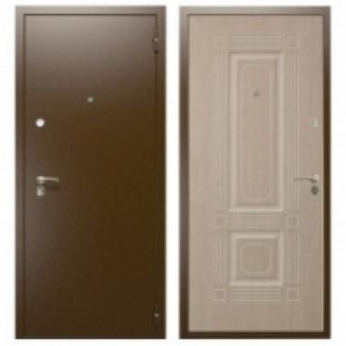 Металлическая дверь Оптима 2 Беленый дуб