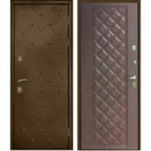 Металлическая дверь Сундук Махагон коричневый