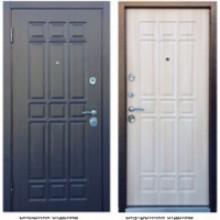 Металлическая дверь Персона Техно 3 венге-белый дуб