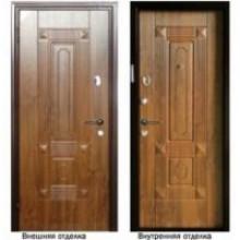 Металлическая дверь Персона Техно 3 орех