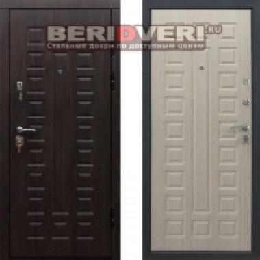 Металлическая дверь Геркон Сенатор Белая лиственница Винорит