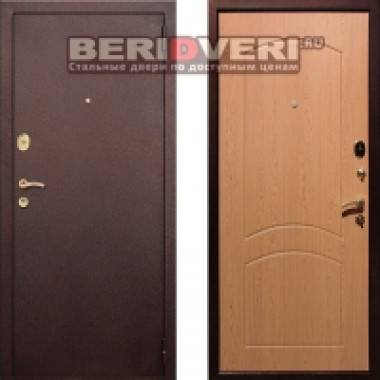 Металлическая дверь REX 1A Антик Дуб