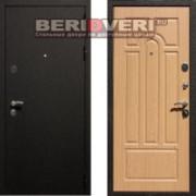 Металлическая дверь REX 1A Шелк Беленый дуб