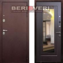 Металлическая дверь REX 5A с зеркалом, цвет Венге