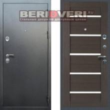 Металлическая дверь REX 5A с молдингами Серебро Венге