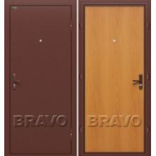 Металлическая дверь Bravo Оптим Билд Миланский орех
