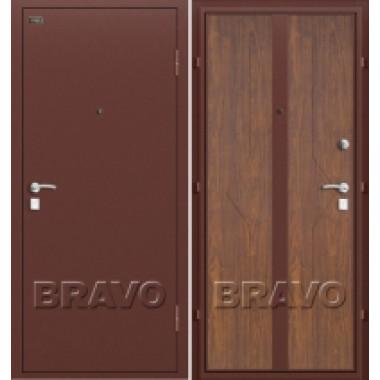 Металлическая дверь Bravo Оптим Ультра Орех