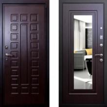 Металлическая дверь Art-Lock 4АЗ Венге с зеркалом