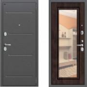 Металлическая дверь Proff с зеркалом Вишня