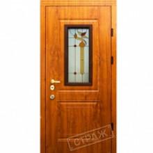 Металлическая дверь СТРАЖ Lattise Витраж