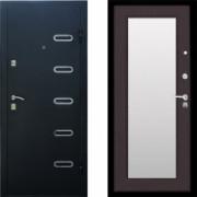 Металлическая входная дверь Стоп Парко с зеркалом Венге ( входные двери с зеркалом )