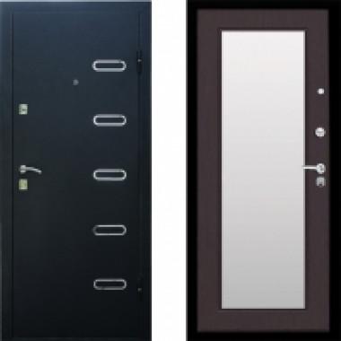 Металлическая входная дверь Стоп Парко с зеркалом Венге