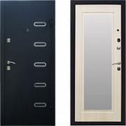 Металлическая входная дверь с зеркалом СТОП Парко Беленый Дуб ( входные двери с зеркалом )