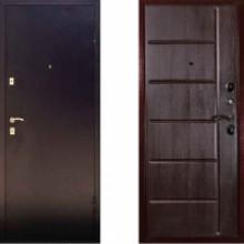Металлическая дверь Дива С-503 Темный орех с шумоизоляцией