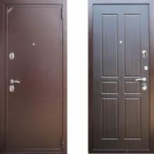 Металлическая дверь ЕВРО 2/Б2 (f010) Венге