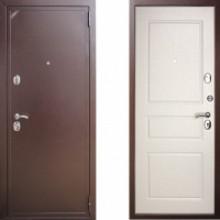 Металлическая дверь ЕВРО 2/Б2 (f049) Белая Эмаль