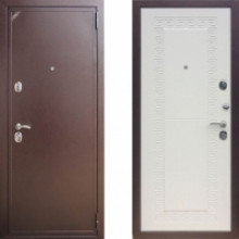 Металлическая дверь ЕВРО 2/Б2 (f055) Белая Греция