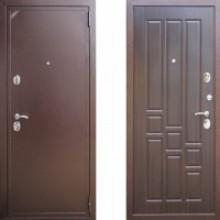 Металлическая дверь ЕВРО 2/Б2 (f005) Орех мореный