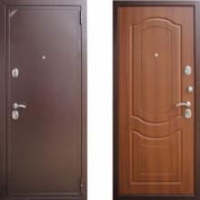 Металлическая дверь ЕВРО 2/Б2 (f022) Орех тисненый