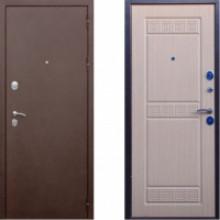 Металлическая дверь СТОП Троя Беленый Дуб