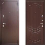 Металлическая дверь ЕВРО 2/Б2 (f003) орех темный