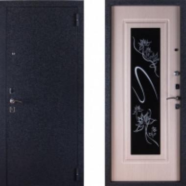 Металлическая дверь СТОП Триплекс с зеркалом